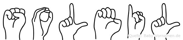 Soleil in Fingersprache für Gehörlose