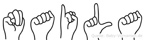 Naila im Fingeralphabet der Deutschen Gebärdensprache