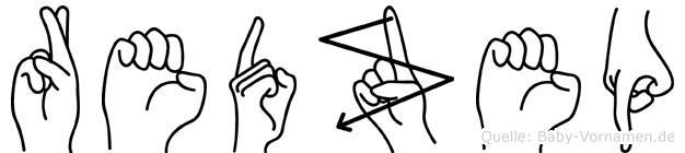 Redzep im Fingeralphabet der Deutschen Gebärdensprache