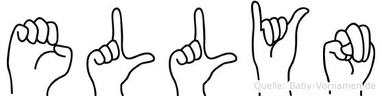 Ellyn im Fingeralphabet der Deutschen Gebärdensprache