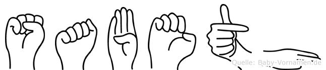 Sabeth in Fingersprache für Gehörlose