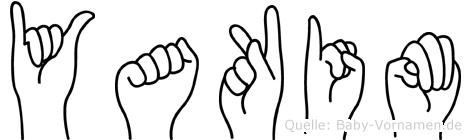 Yakim im Fingeralphabet der Deutschen Gebärdensprache