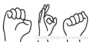 Efa in Fingersprache für Gehörlose