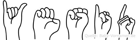 Yesid im Fingeralphabet der Deutschen Gebärdensprache