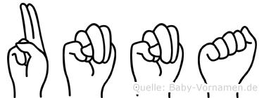 Unna in Fingersprache für Gehörlose