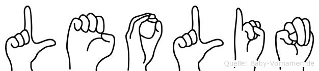 Leolin im Fingeralphabet der Deutschen Gebärdensprache