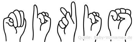 Mikis in Fingersprache für Gehörlose