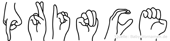 Prince im Fingeralphabet der Deutschen Gebärdensprache