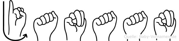 Janaan im Fingeralphabet der Deutschen Gebärdensprache