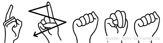 Dzana in Fingersprache für Gehörlose