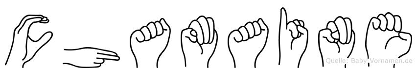 Chamaine in Fingersprache für Gehörlose