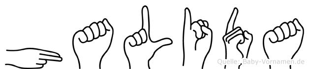 Halida in Fingersprache für Gehörlose