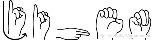 Jihen im Fingeralphabet der Deutschen Gebärdensprache