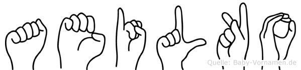 Aeilko im Fingeralphabet der Deutschen Gebärdensprache