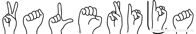 Valerija in Fingersprache für Gehörlose