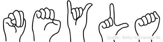 Neyla im Fingeralphabet der Deutschen Gebärdensprache