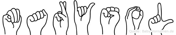 Marysol in Fingersprache für Gehörlose