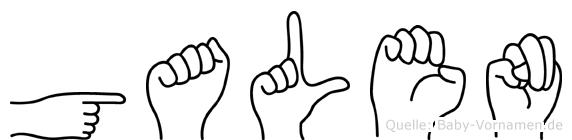 Galen in Fingersprache für Gehörlose