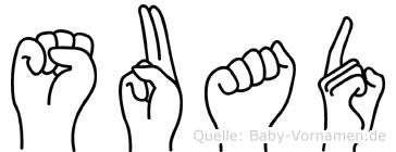 Suad im Fingeralphabet der Deutschen Gebärdensprache