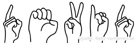 Devid in Fingersprache für Gehörlose
