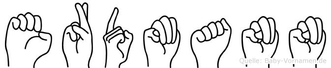 Erdmann im Fingeralphabet der Deutschen Gebärdensprache