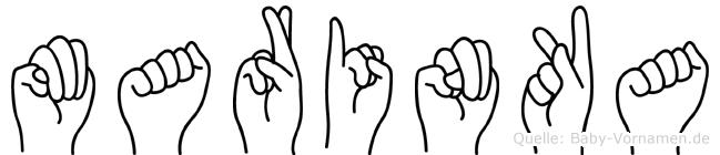 Marinka in Fingersprache für Gehörlose