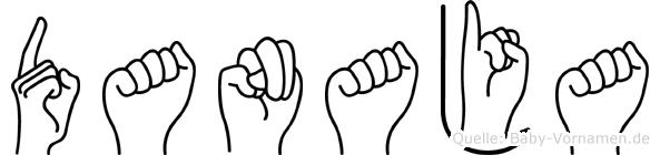 Danaja im Fingeralphabet der Deutschen Gebärdensprache