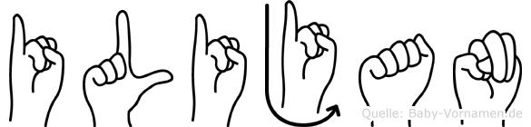 Ilijan in Fingersprache für Gehörlose