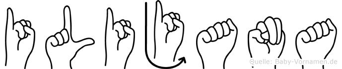 Ilijana im Fingeralphabet der Deutschen Gebärdensprache