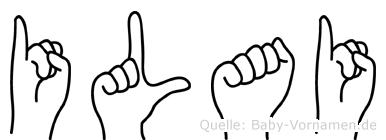 Ilai in Fingersprache für Gehörlose