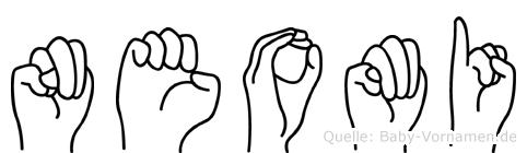 Neomi im Fingeralphabet der Deutschen Gebärdensprache