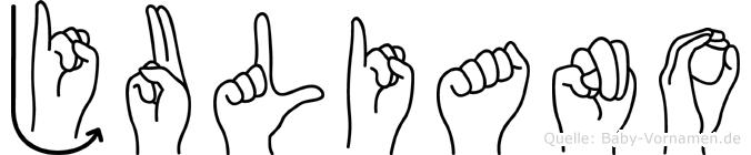 Juliano in Fingersprache für Gehörlose