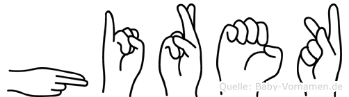 Hirek in Fingersprache für Gehörlose