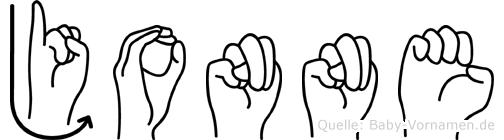 Jonne in Fingersprache für Gehörlose