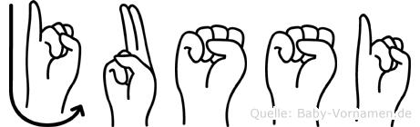 Jussi in Fingersprache f�r Geh�rlose