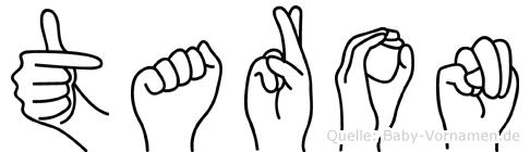 Taron im Fingeralphabet der Deutschen Gebärdensprache