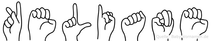 Keliane im Fingeralphabet der Deutschen Gebärdensprache