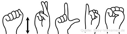 Ärlis in Fingersprache für Gehörlose