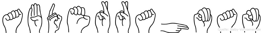 Abderrahman in Fingersprache für Gehörlose