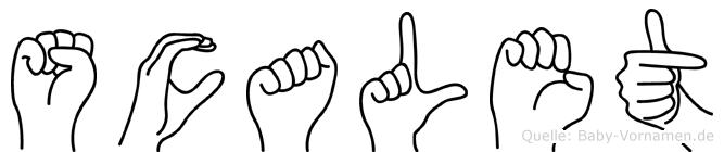 Scalet in Fingersprache für Gehörlose