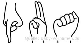 Pua in Fingersprache für Gehörlose