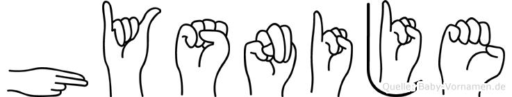 Hysnije in Fingersprache für Gehörlose