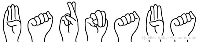 Barnaba im Fingeralphabet der Deutschen Gebärdensprache