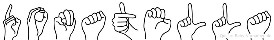 Donatella im Fingeralphabet der Deutschen Gebärdensprache