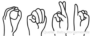 Omri im Fingeralphabet der Deutschen Gebärdensprache
