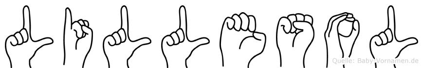 Lillesol im Fingeralphabet der Deutschen Gebärdensprache