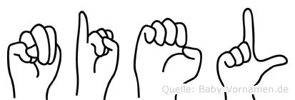 Niel im Fingeralphabet der Deutschen Gebärdensprache