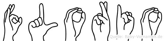 Florio im Fingeralphabet der Deutschen Gebärdensprache