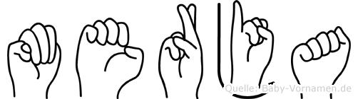 Merja im Fingeralphabet der Deutschen Gebärdensprache