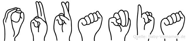 Ourania in Fingersprache für Gehörlose